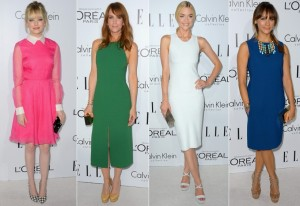 2012-elle-women-in-hollywood-emma-stone-kristen-wiig-jaime-king-rashida-jones-calvin-klein-valentino-pink-dress
