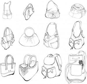 bags women layout