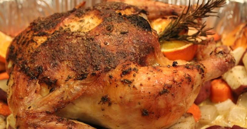 Пиле с портокал и розмарин
