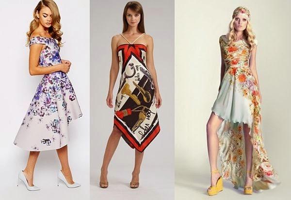 асиметрични рокли