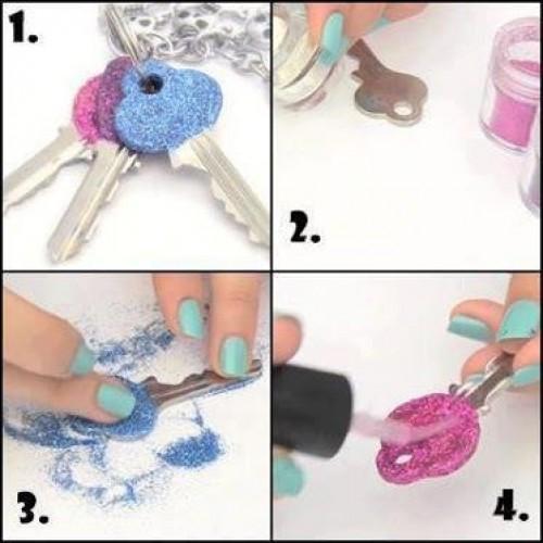 Вижте как да си направим цветен ключ