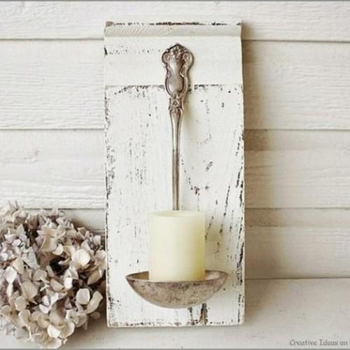 Виж как да си направиш оригинален свещник, от стария черпак