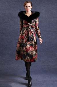 Floral-Print-Padded-Coat
