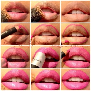Pink-Lipstick-Makeup-Tutorial