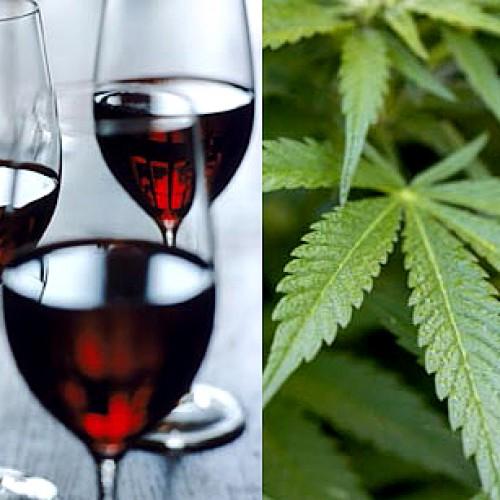 Вино с марихуана