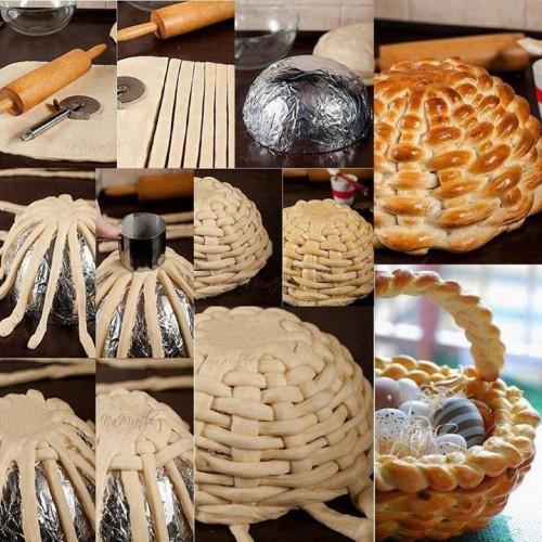 Да си направим великденска кошничка за яйца – от тесто!