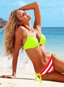 Hot-Sale-New-In-2014-Women-Swimwear-Brand-Push-Up-Bra-Bikini-Green-font-b-Neon