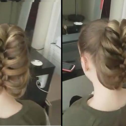 Лесна прическа за дълга коса. Подходяща за всяки повод