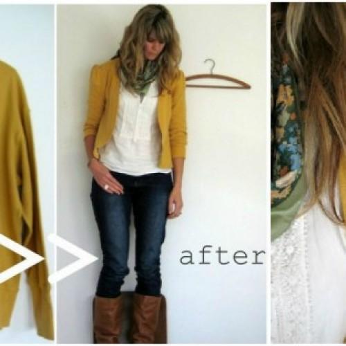 Направи си сама – модерна жилетка от стария пуловер